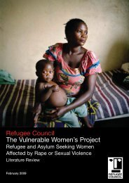 Refugee Council The Vulnerable Women's Project - Social Welfare ...