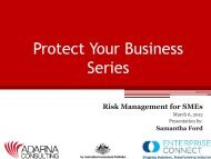 Risk Management for SMEs - Sustainable Tourism Online