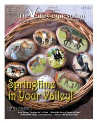 April 2012 - The Valley Equestrian Newspaper