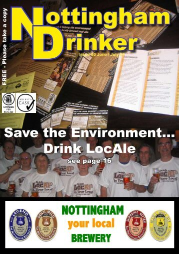 Save the Environment… Drink LocAle - Nottingham CAMRA