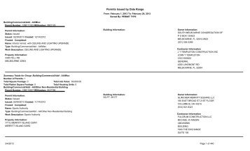 Permits Issue February 2013 - Brevard County