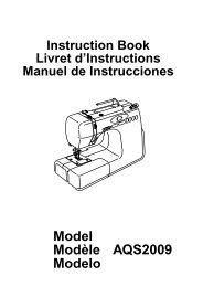 Model Modèle Modelo AQS2009 - Janome