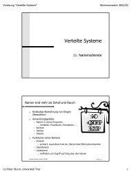 WO +QNFGPGP 3EJUGP - Systemsoftware und Verteilte Systeme ...