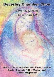 Programme 12 December.indd - Beverley Chamber Choir