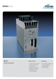 Product information Electronic Power Supply EPS 60 - Dr. Hönle AG