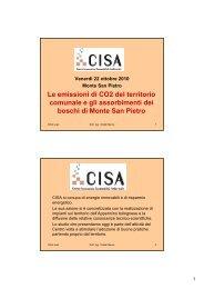 Le emissioni di CO2 del territorio comunale e gli ... - Centro CISA