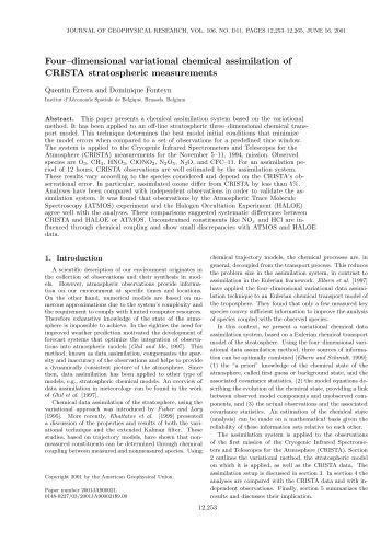 Scientific paper in JGR, JUNE 16, 2001 - Data User Element - ESA