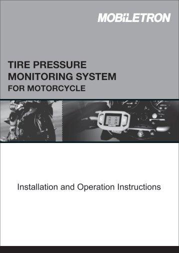 RX014 Bike TPMS(Tire Pressure Monitoring System) - MOBILETRON
