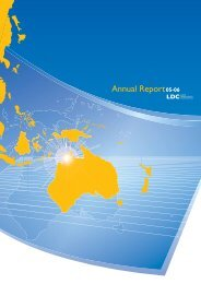 Annual Report 2005 - Land Development Corporation - Northern ...