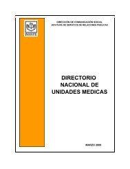 DIRECTORIO NACIONAL DE UNIDADES MEDICAS DIRECTORIO