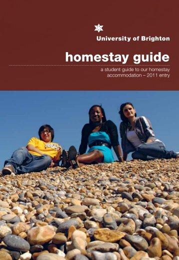 homestay guide - Staffcentral - University of Brighton