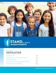 Fall 2012 Member Newsletter - Stand for Children