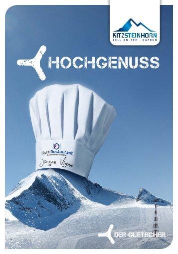 Einladung zum HOCHGENUSS - Kitzsteinhorn