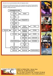 Eventorganisation mit uns (PDF) - Event & Consulting