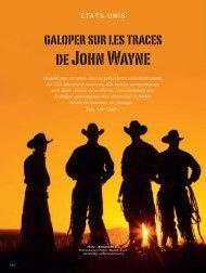 Sur les traces de John Wayne - Magazine Sports et Loisirs