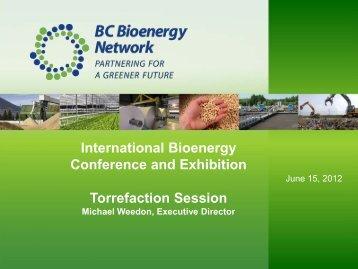 Michael Weedon: Torrefaction Session - International Bioenergy ...