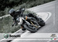 GA MM A MO TO 2012 MO TOR C YCLE R ANGE 2012 - Benelli