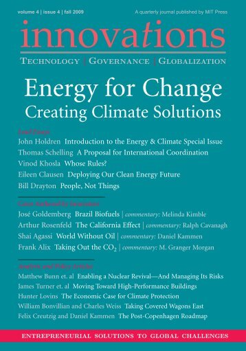 Innovations, Energy for Change, Fall 2009.pdf - Renewable and ...