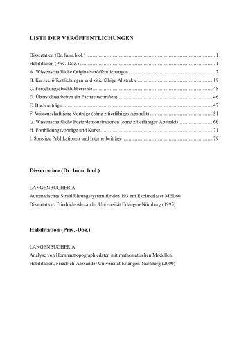 Publikationsliste - Instituts für Medizinische Physik - Friedrich ...