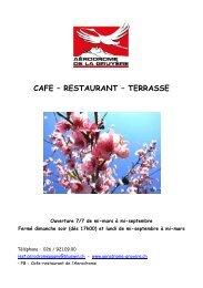 CAFE – RESTAURANT – TERRASSE