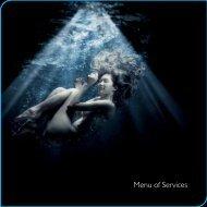 Menu of Services - Chuan Spa