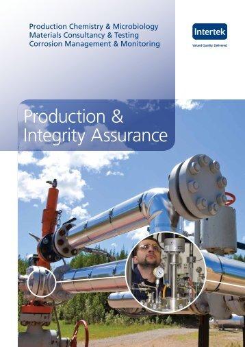Production & Integrity Assurance - Intertek