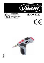 V1720 Mini Schleifer - Vigor Equipment