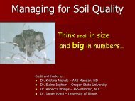 Managing for Soil Quality