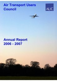 Annual Report 2006 - 2007 Air Transport Users Council