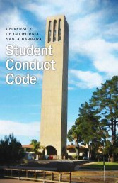 Student Conduct Code - UCSB Office of Judicial Affairs - University ...