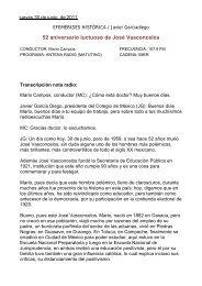 52 aniversario luctuoso de José Vasconcelos - El Colegio de México