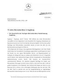 75 Jahre Mercedes-Benz in Augsburg