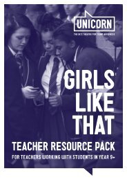 1-Unicorn Theatre GIRLS LIKE THAT teacher resources