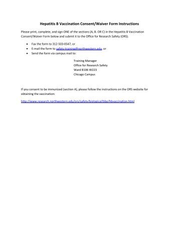 Vaccine Consent Form Template. Hepatitis B Vaccination Consent ...