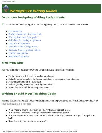 Need an idea for a writing assignment?