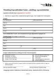 tilmeldingsskema - Københavns Tekniske Skole