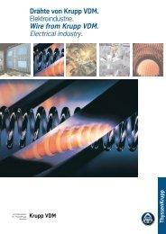 Draht Elektroindustrie - ThyssenKrupp VDM