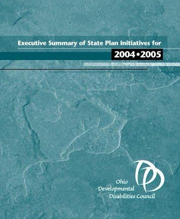 Executive Summary - Ohio Developmental DisABILITIES Council
