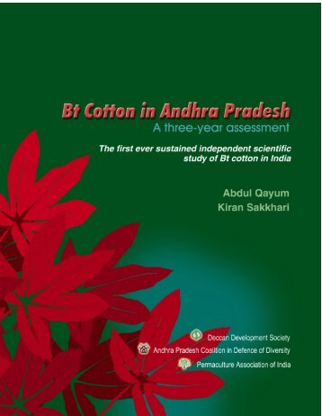 Bt cotton in Andhra Pradesh: a three-year assessment - IndiaGMInfo