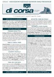 associazione nazionale allevatori cavalli purosangue - SGA Sales