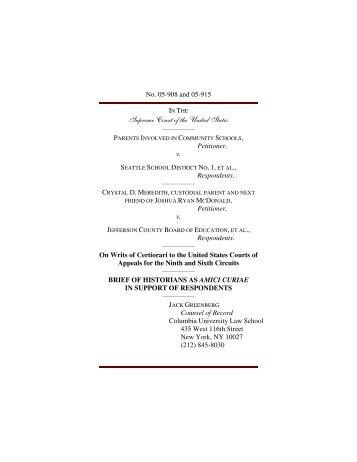 Amici Brief of Historians - FindLaw: Supreme Court Center
