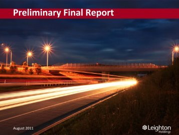 Preliminary Final Report Presentation (PDF - 4.1 MB) - Leighton ...