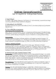 Referat af generalforsamling - Grundejerforening for Fortunen og ...