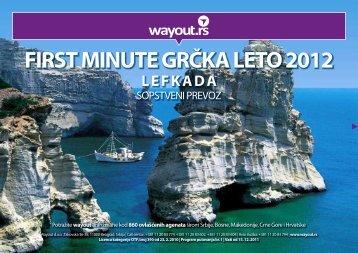 first minute grčka leto 2012 lefkada - Wayout