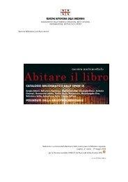 Consulta il catalogo bibliografico della mostra Abitare il libro [file .pdf]