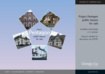 Project Pentagon public houses - Christie + Co Corporate