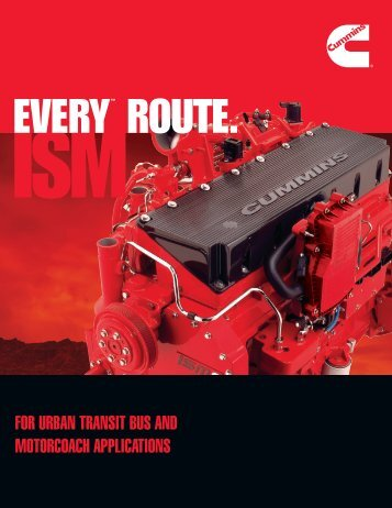 for urban transit bus and motorcoach applications - Cummins Engines