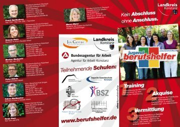 Teilnehmende Schulen: www.berufshelfer.de - Coolzap.de