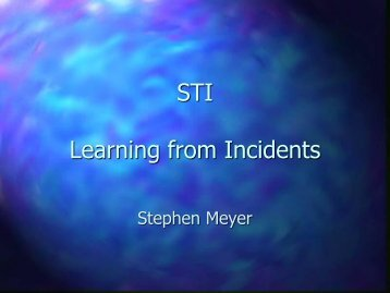 STI Learning from Incidents - Sail Training International