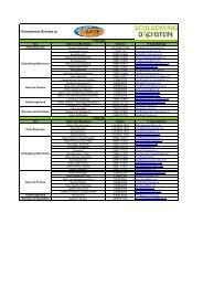 Beherbergungsbetriebe Schladming Dachstein 2010-2011